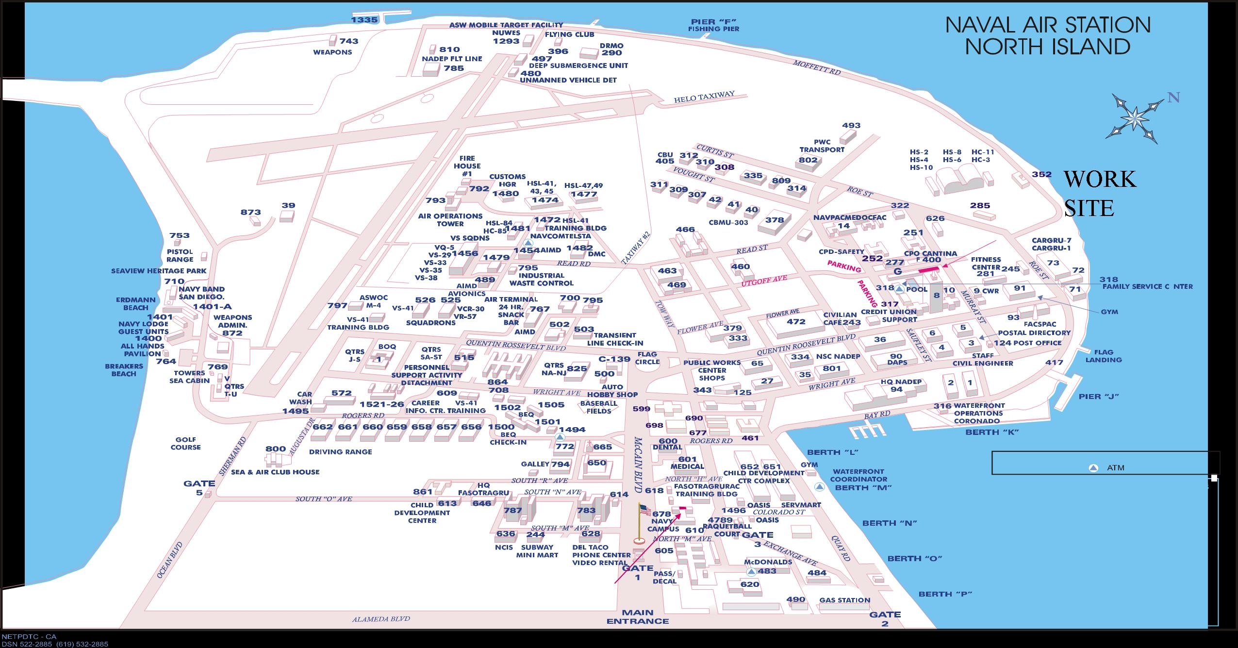 Naval Station North Island Base Map